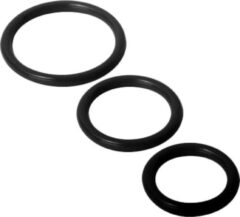 Zwarte Trinity Vibes Trinity Siliconen Cockringen Set