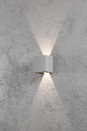 Afbeelding van Konstsmide Cremona 7959-310 Buiten LED-wandlamp Energielabel: LED (A++ - E) 6 W Warm-wit Grijs