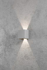 Konstsmide Cremona 7959-310 Buiten LED-wandlamp Energielabel: LED (A++ - E) 6 W Warm-wit Grijs