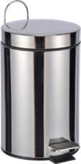 Zilveren Haushalt 39007 - Pedaalemmer - 3 liter - RVS