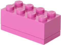 Room Copenhagen Lego Minibox Brick 8 - 4,6 cm x 9,2 cm - 4,3 cm - Fuchsia