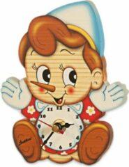 Bartolucci Muurklok Pinokkio Bartolucci 14 5 X 9 5 Cm 1 Stuks Meerdere Kleuren Hout