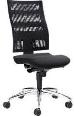 Bürostuhl SSI PROLINE Edition, ohne Armlehnen, Synchronmechanik, mit Netz-Bezug