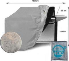 Zilveren CUHOC COVER UP HOC Diamond bbq hoes waterdicht-150x56x105 cm - met Stormbanden en Trekkoord