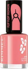 Koraalrode Rimmel London 60 Seconds Flip Flop Shades nagellak - 406 Coral Blush