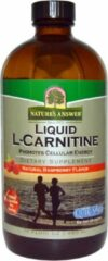 Natures answer Liquid L-Carnitine, Natural Raspberry Flavor (480 ml) - Nature's Answer