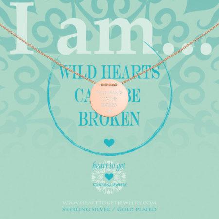 Afbeelding van Heart to get IAM437N-WILD-R wild hearts can't be broken ketting rose verguld
