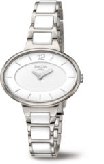Boccia Titanium 3261.05 horloge - Keramiek - Wit en zilverkleurig - 34 mm