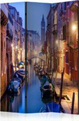 Beige Kamerscherm - Scheidingswand - Vouwscherm - Evening in Venice [Room Dividers] 135x172 - Artgeist Vouwscherm