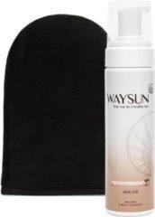 Waysun® - Mediterrenean Mousse - Tanning Mitt - Zelfbruiner - Medium - Zelfbruiner gezicht - Mousse - Zelfbruiner spray - Vegan - Zelfbruiners - Zelfbruiner mousse - Huidverzorging - Scrub - Verzorgingsproducten - Verzorgingsproducten dames geschenk