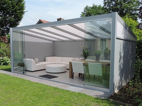 Afbeelding van Van Kooten Tuin en Buitenleven Profiline terrasoverkapping - vrijstaand - 500x350 cm - polycarbonaat dak