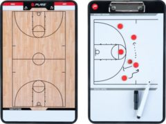 Witte Pure2Improve Coach-bord dubbelzijdig basketbal 35x22 cm P2I100620