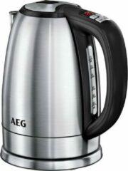 AEG EWA7700 waterkoker 1,7 l Zwart, Geborsteld Roestvrijstaal- met Warmhoudfunctie en 13 instelbare temperatuurniveaus