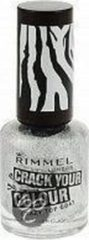 Zilveren Rimmel London Rimmel COLOUR CRAZY TOPCOAT (CRACK TOPCOAT) - 20 Silver - Topcoat