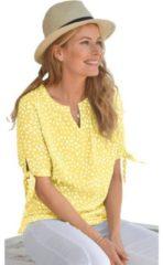 Gele Classic Inspirationen blouse van soepelvallende viscose