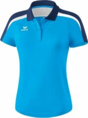 Marineblauwe Erima Liga 2.0 polo Sportpolo Dames - Curacao/New Navy/Wit