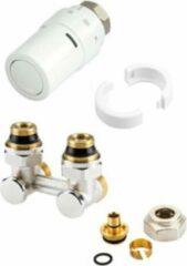 Witte Danfoss RAX K onderblokset haaks voor radiatoren met M30 insert