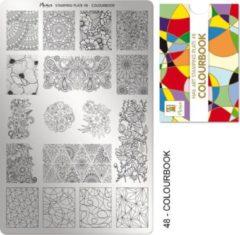 Moyra Nail Art Stamping Plate 48 - Colourbook