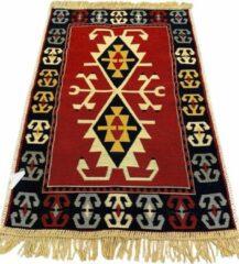 Sunar Home Kelim Vloerkleed Dalyan - Kelim kleed - Kelim tapijt - Oosterse Vloerkleed - 60x90 cm - Loper - Bankkleed - Plaid - Met kleine cadeau