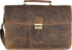Greenburry Vintage Aktentasche Leder 40 cm Laptopfach