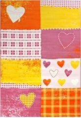 Impression Bambino Love Kinderkamer Vloerkleed Roze / Oranje Laagpolig - 80x150 CM