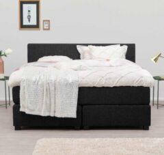 Antraciet-grijze Goed Slapen Nederland Imperia boxspringset 140x200 cm (Antraciet)