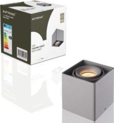 HOFTRONIC™ LED opbouwspot Grijs - Dimbaar en Kantelbaar - incl 5W 3000K GU10 Spot - Plafondspot Esto - Geschikt voor Binnengebruik