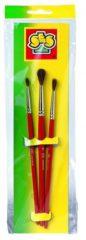 Penselenset SES 3-pack: penseel nr. 2 en 4 en 6