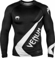 Grijze Venum Contender 4.0 Rashguard - Long Sleeves - Black/Grey-White-S