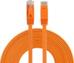 By Qubix internetkabel - 10 meter - oranje - CAT6 ethernet kabel - RJ45 UTP kabel met snelheid van 1000Mbps - Netwerk kabel is zeer stevig!