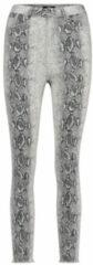 Catwalk Junkie slim fit broek met slangenprint ecru