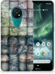 Blauwe B2Ctelecom Silicone Back Cover Nokia 7.2 | 6.2 Spijkerbroeken