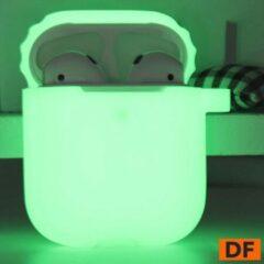 Merkloos / Sans marque Airpods Silicone Beschermhoes - Glow in the Dark | Airpod Beschermhoes| Airpod Hoesje | Airpod Case | Geschikt voor Airpods 1 / 2