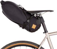 Restrap - Small Saddle Bag - Fietstas maat 8 l, zwart/grijs