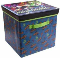 Blauwe Ben10 zitbox - opbergbox met zitgelegenheid