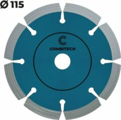 Blauwe Combitech Tools Diamantschijf beton 115mm - Harde steensoorten - Premium Diamantzaagblad