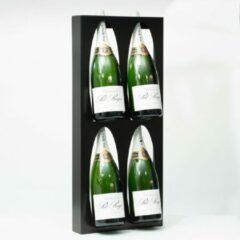 Zwarte Ferro Duro - Magnum champagne display - 4 flessen