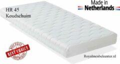 Witte Matras 90x190x10 cm Koudschuim HR-45 ledikant matras met anti-allergische wasbare hoes. Royalmeubelcenter.nl ®