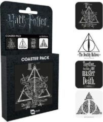 Hole in the Wall HARRY POTTER - Official Coaster Pack - Deathly Hallows