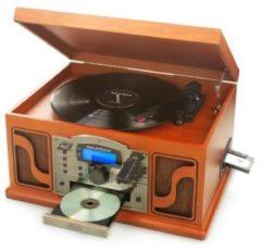 Ricatech RMC250 6 in 1 Music Center Plattenspieler Deluxe, inkl. Bluetooth