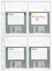 Durable 5243-19 Diskette-ordnerhoes 4 diskettes 3,5 inch Transparant 5 stuks