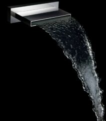 Mueller ABS baduitloop waterval 20cm chroom