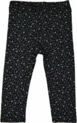 R Rebels | Katoenen kinder legging | Zwarte bloemenprint | Maat 116