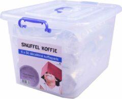SnuffelStore Koffie Pads - Deca - Cafeïnevrij - geschikt voor SENSEO machine - VOORDEELVERPAKKING (6 x 50) 300 stuks - met opbergbox