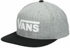 Grijze Vans Pet men drop v ii snapback heather grey black