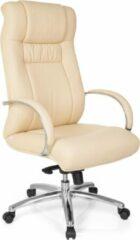 Hjh office XXL FG 600 - Bureaustoel -Zware belasting (belasting tot 150 kg) - Kunstleder - Beige