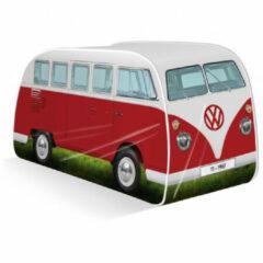 VW Collection - VW T1 Bus Kinder Pop Up Spielzelt maat 165 x 77 x 54 cm, rood