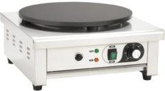 Zilveren VidaXL Elektrische crêpemaker met lekbakje 40 cm 3000 W