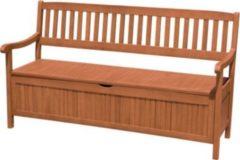 Garden Pleasure Holz Garten Bank Aufbewahrung Truhe Parkbank Sitzbank braun