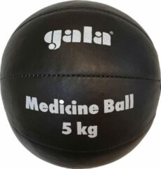 Gala Medicine Ball - Medicijn bal - 5 kg - Zwart Leer